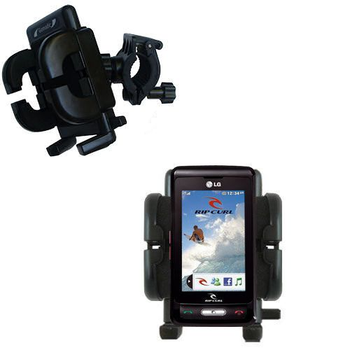 Handlebar Holder compatible with the LG KP550 Rip Curl
