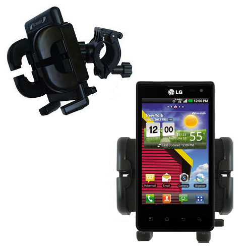 Handlebar Holder compatible with the LG Lucid 1 / 2 / 3