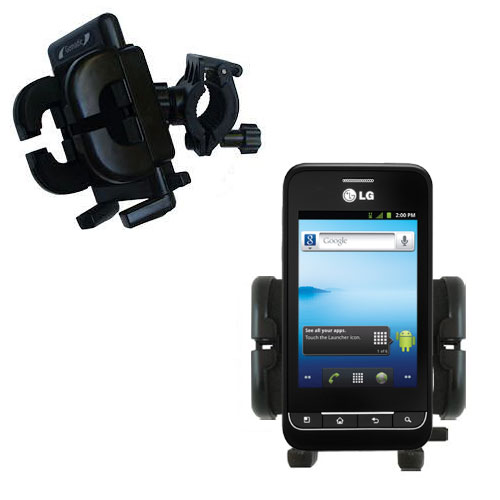 Handlebar Holder compatible with the LG Optimus 2