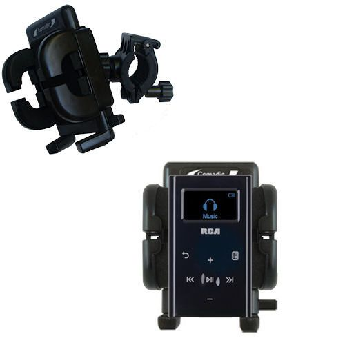 Handlebar Holder compatible with the RCA M2204 Lyra Digital Audio Player