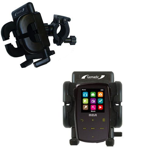 Handlebar Holder compatible with the RCA M3904 Lyra Digital Media Player