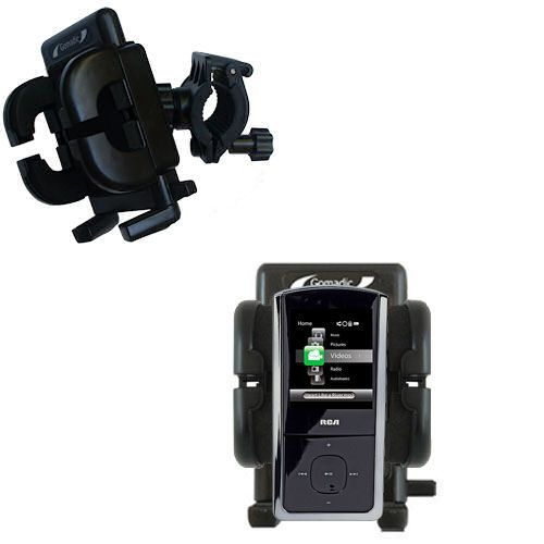 Handlebar Holder compatible with the RCA M4302 Digital Music Player