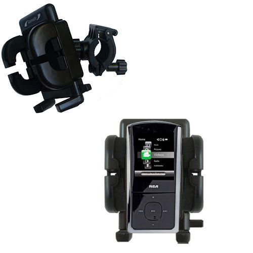 Handlebar Holder compatible with the RCA M4308 Opal Digital Media Player