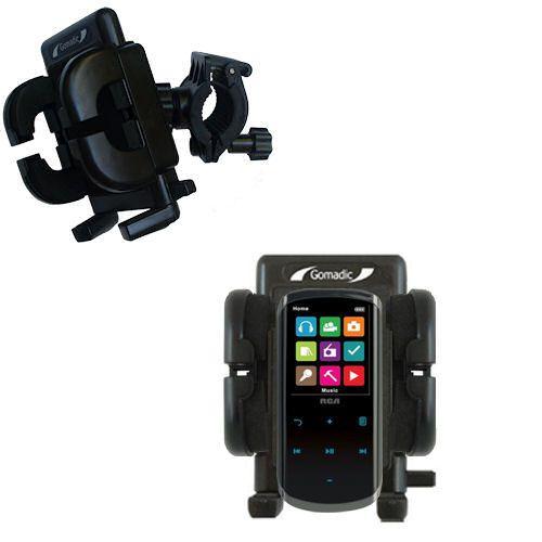 Handlebar Holder compatible with the RCA M4608 Lyra Digital Media Player