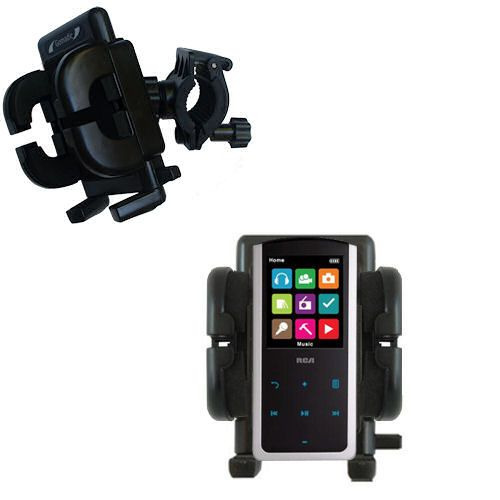 Handlebar Holder compatible with the RCA M4808 Lyra Digital Media Player