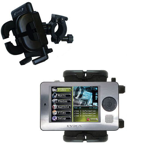 Handlebar Holder compatible with the RCA X3000 LYRA Media Player