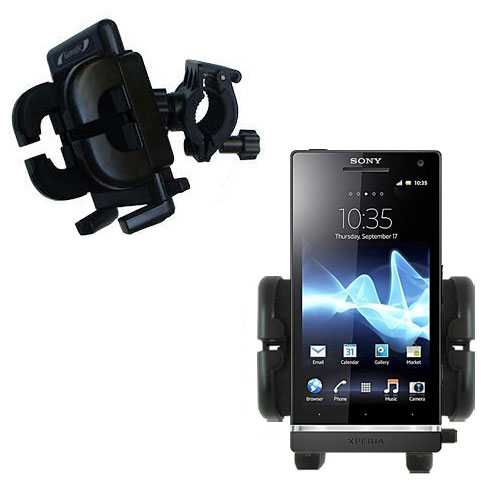 Handlebar Holder compatible with the Sony Ericsson Xperia S