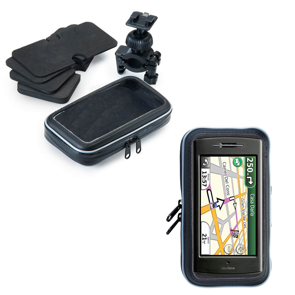 Weatherproof Handlebar Holder compatible with the Garmin Nuvifone G60