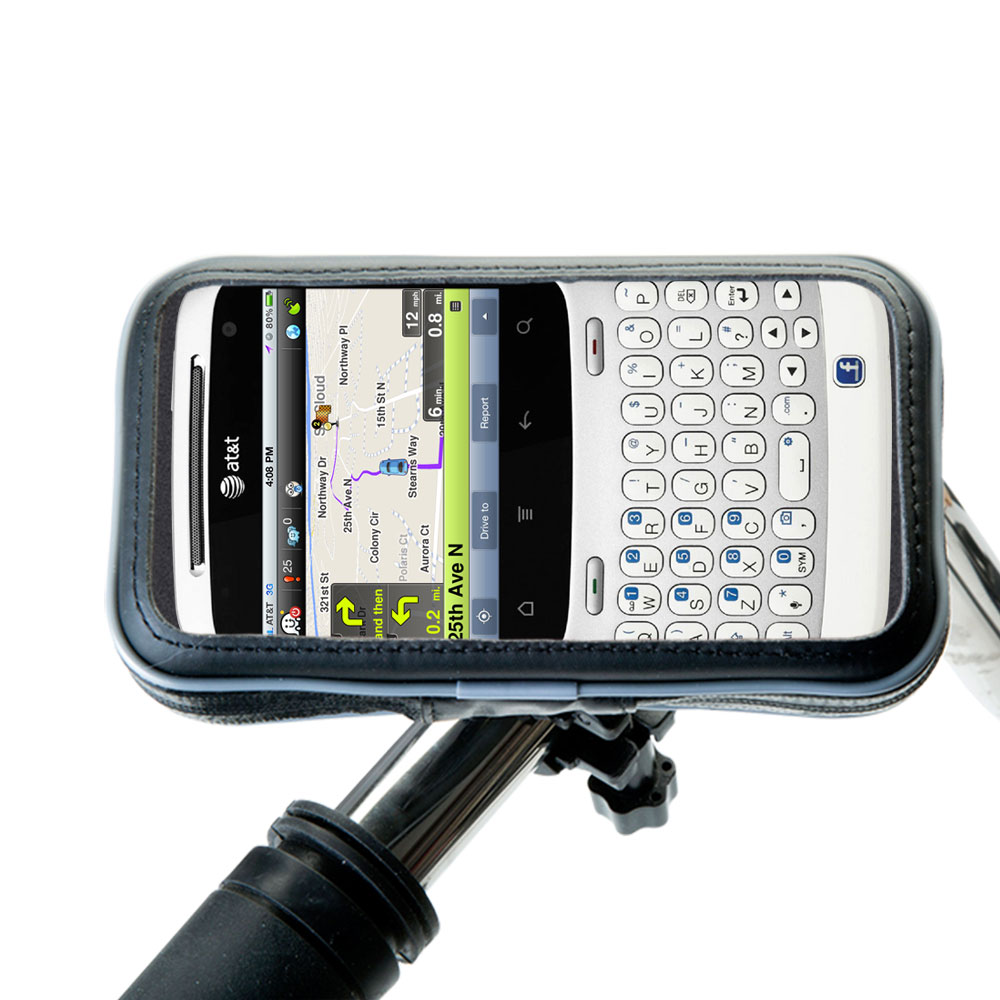 Weatherproof Handlebar Holder compatible with the HTC ChaCha