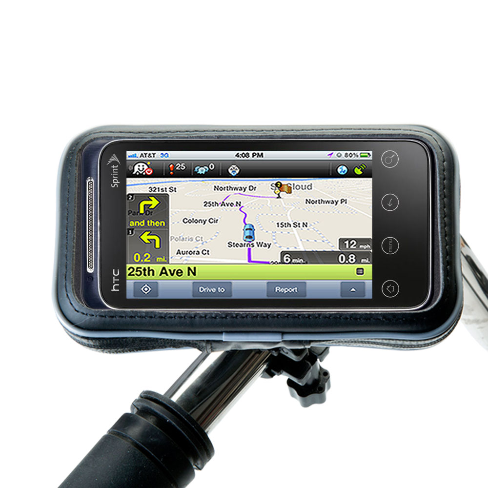 Weatherproof Handlebar Holder compatible with the HTC Knight