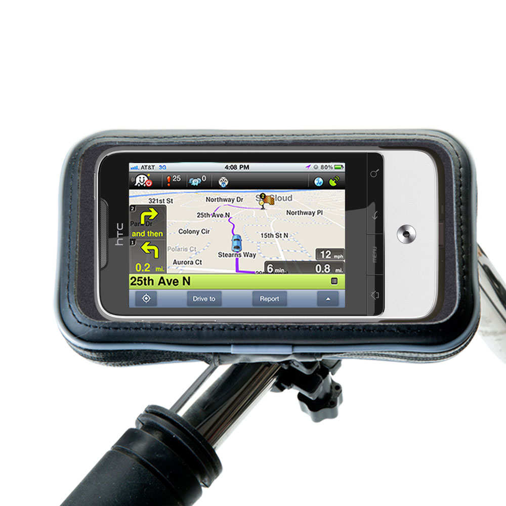 Weatherproof Handlebar Holder compatible with the HTC Legend