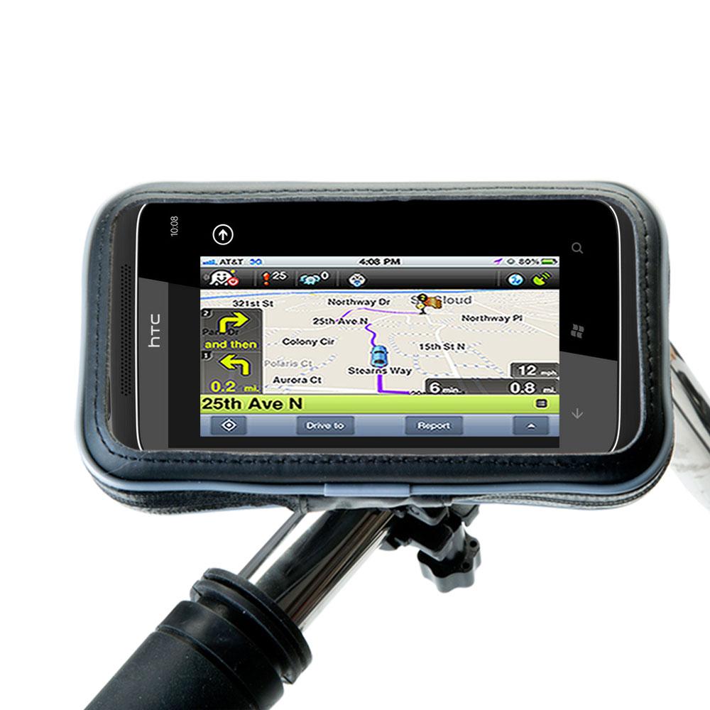 Weatherproof Handlebar Holder compatible with the HTC Mazaa