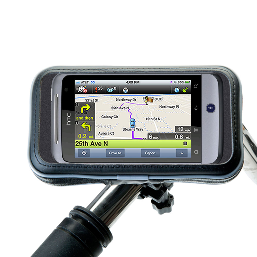 Weatherproof Handlebar Holder compatible with the HTC Salsa