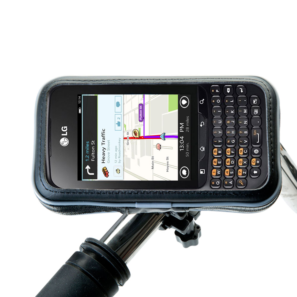 Weatherproof Handlebar Holder compatible with the LG C660