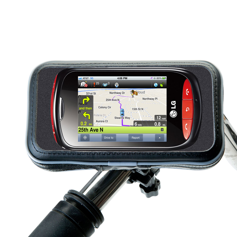 Weatherproof Handlebar Holder compatible with the LG Cookie Style