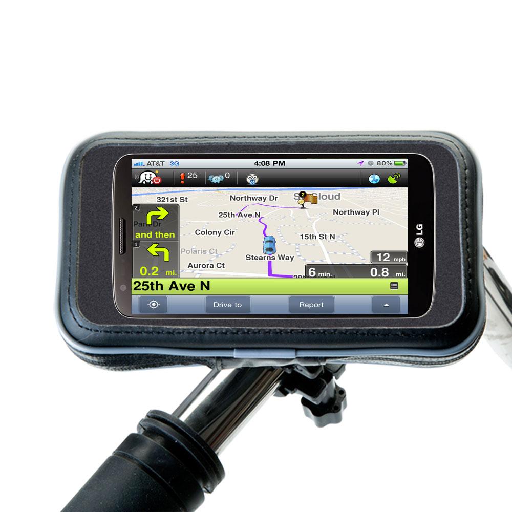 Weatherproof Handlebar Holder compatible with the LG Mini