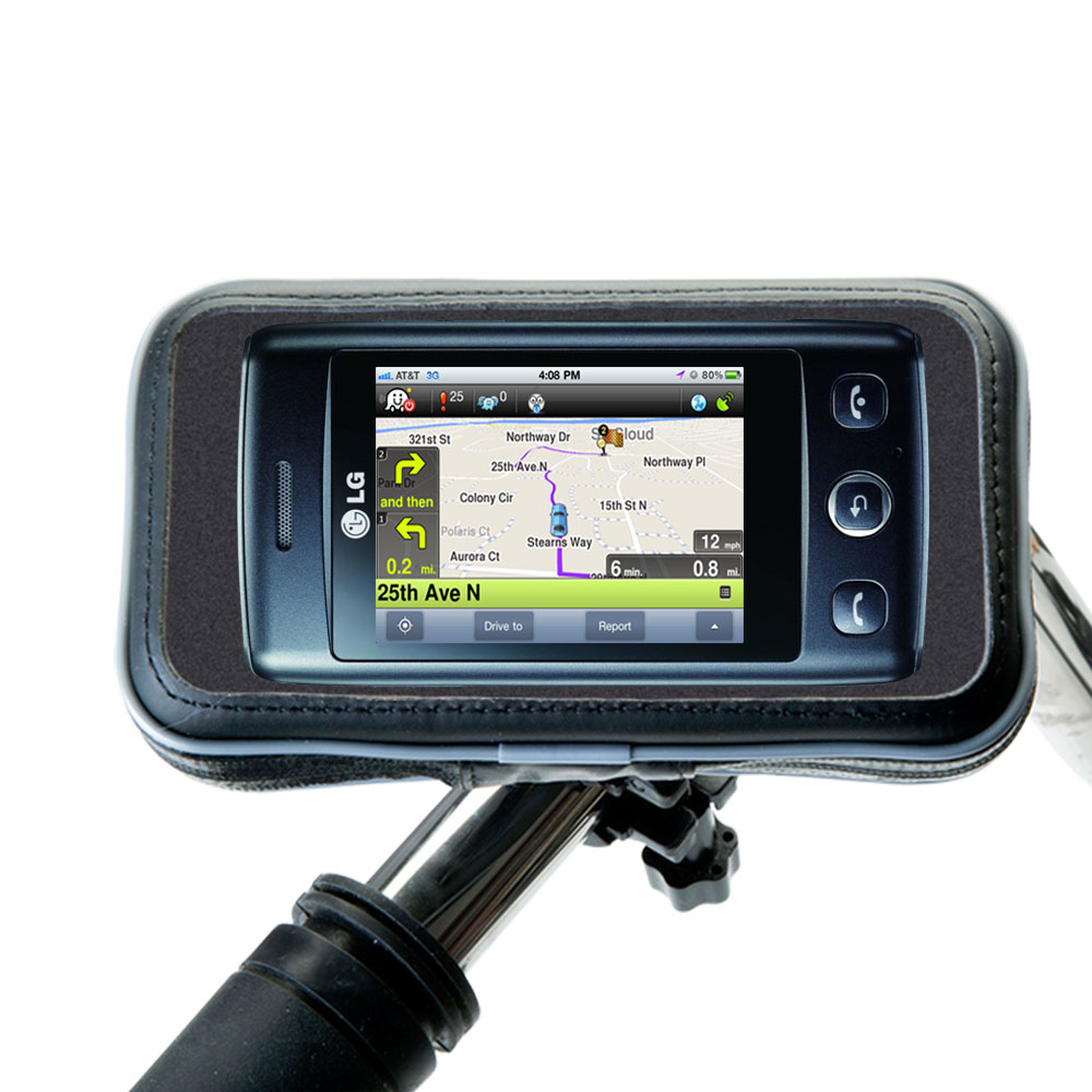 Weatherproof Handlebar Holder compatible with the LG T300