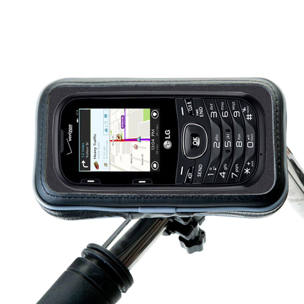 Weatherproof Handlebar Holder compatible with the LG UN251