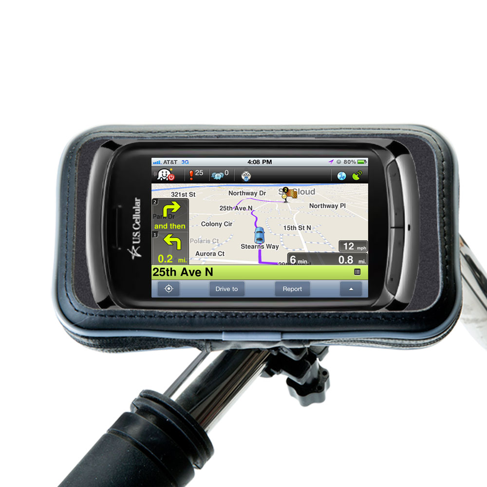 Weatherproof Handlebar Holder compatible with the LG US760