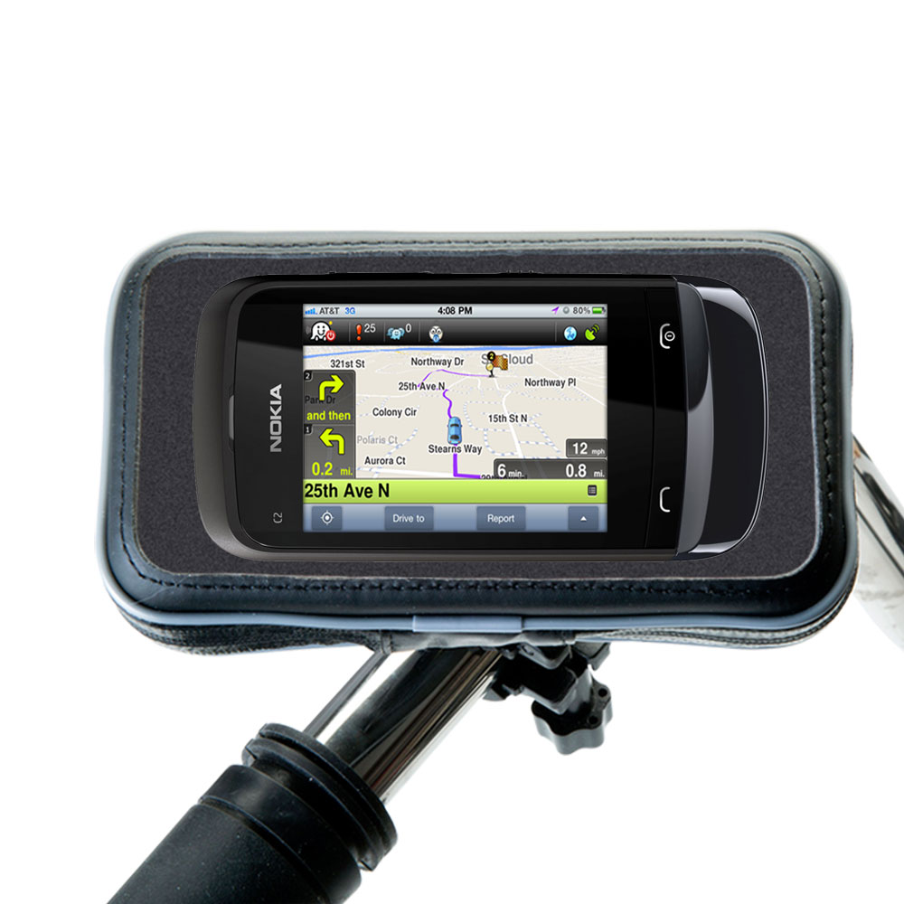Weatherproof Handlebar Holder compatible with the Nokia C2-O2