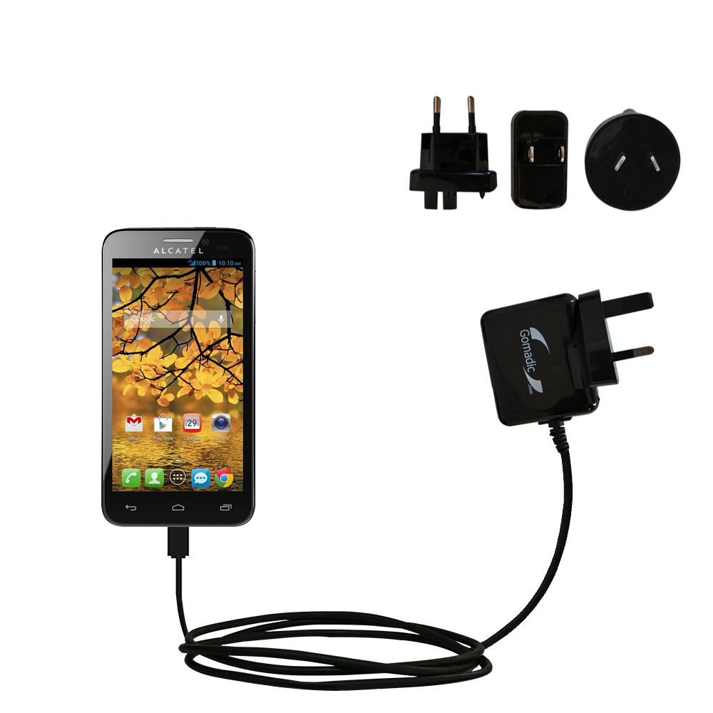 International Wall Charger compatible with the Alcatel One Touch Fierce