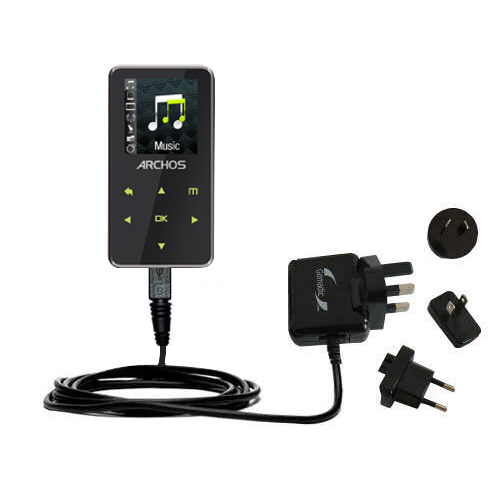 International Wall Charger compatible with the Archos 15 15b Vision A15VS