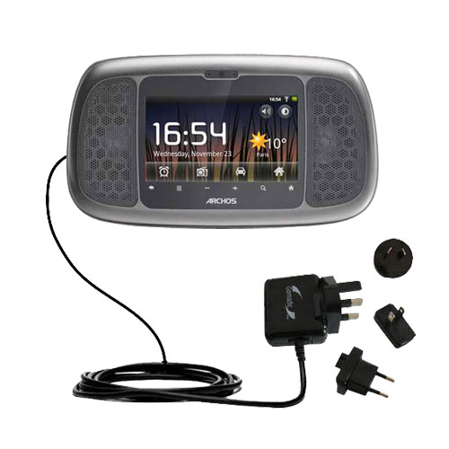 International Wall Charger compatible with the Archos 35 Home Connect