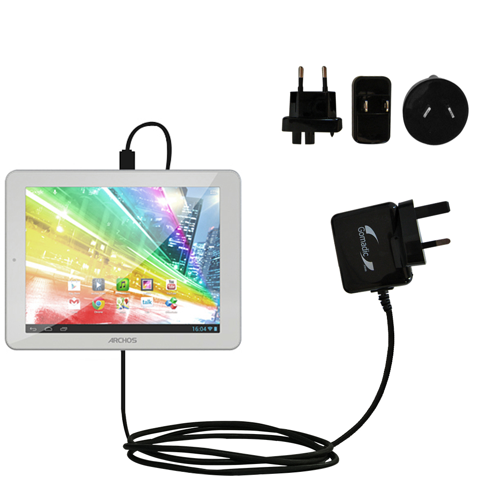 International Wall Charger compatible with the Archos 80b Platinum