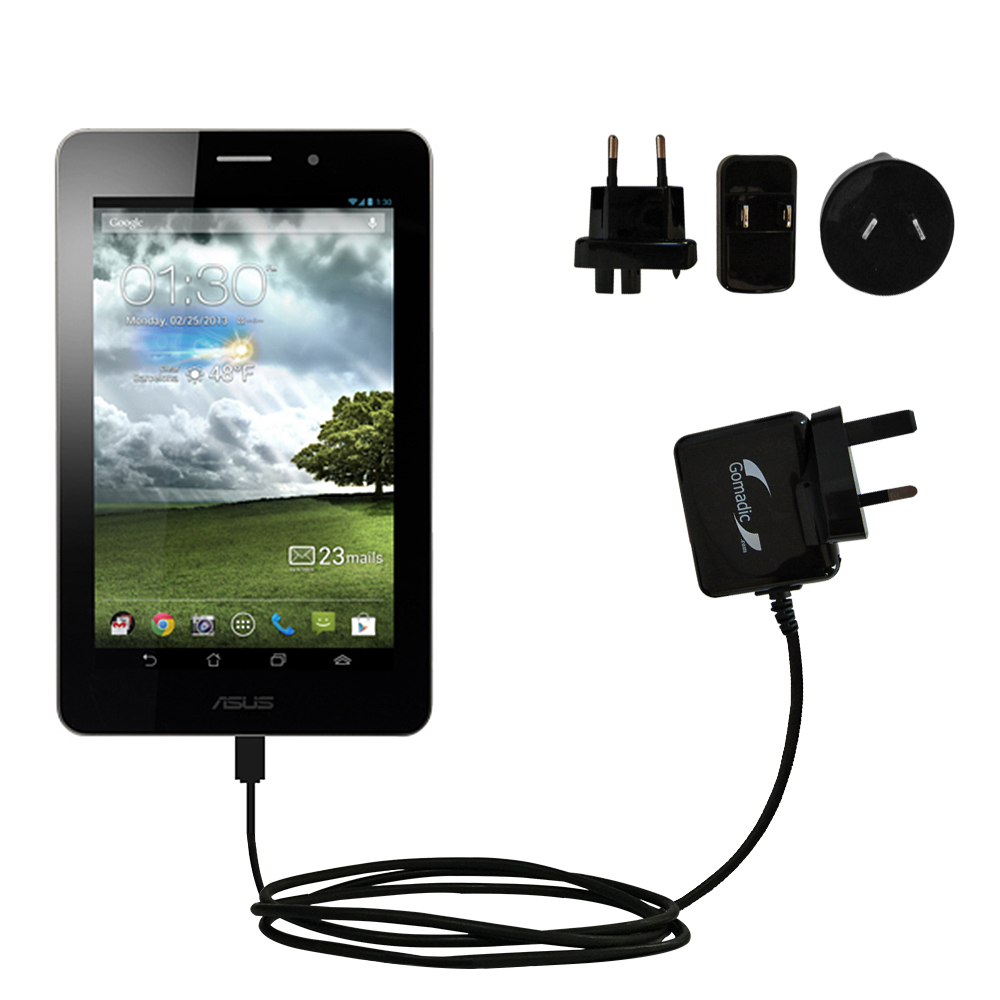 International Wall Charger compatible with the Asus MeMo Pad ME171V