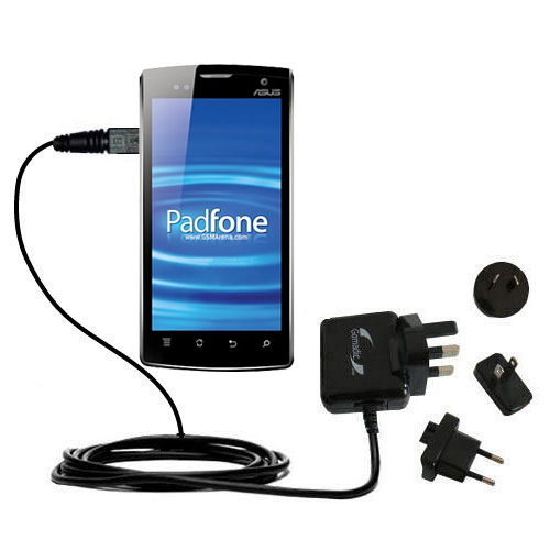 International Wall Charger compatible with the Asus PadFone