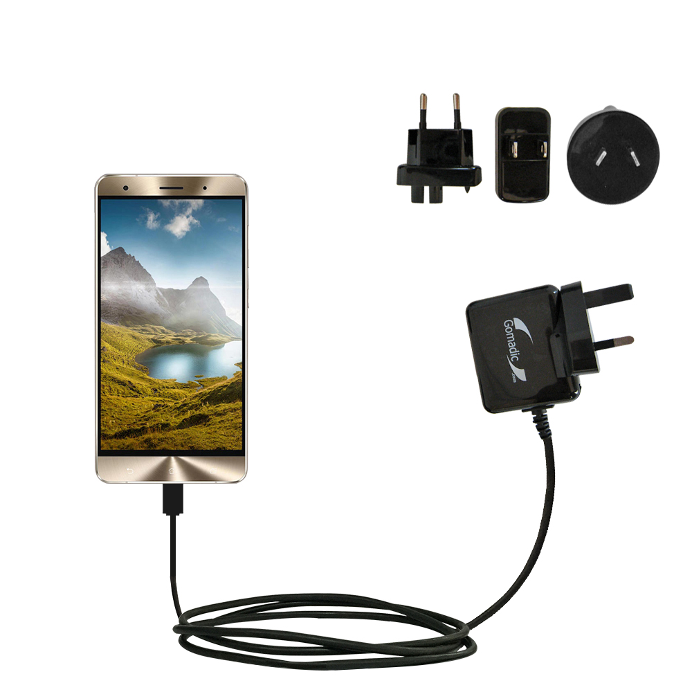 International Wall Charger compatible with the Asus Zenfone 3 Deluxe