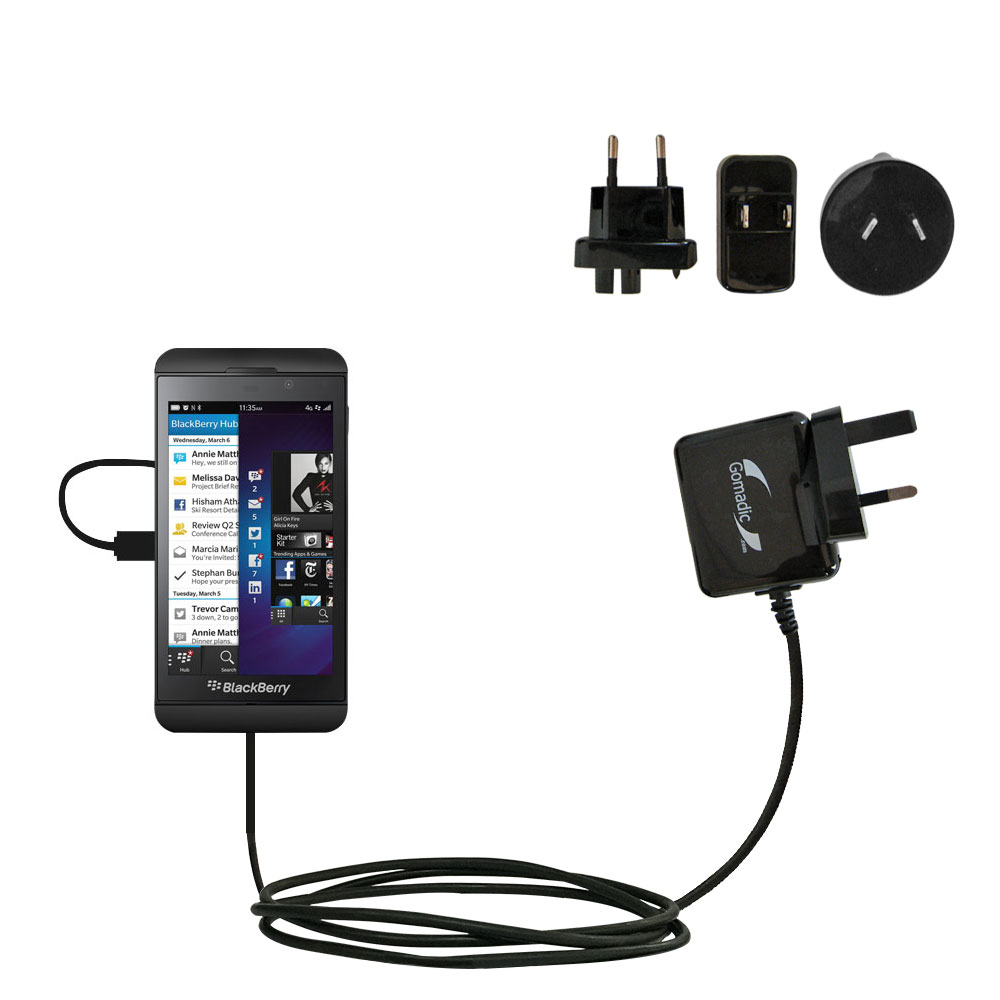 International AC Home Wall Charger suitable for the Blackberry Z10