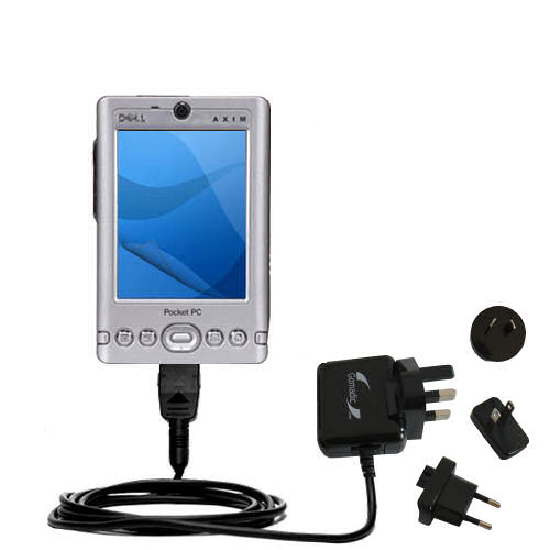 International Wall Charger compatible with the Dell Axim x3 x3i
