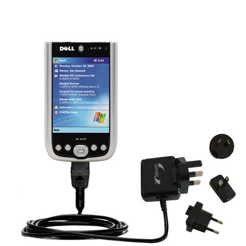 International Wall Charger compatible with the Dell Axim X50 X50v