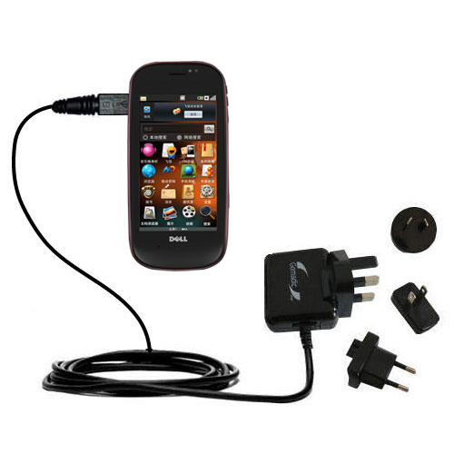 International Wall Charger compatible with the Dell Mini 3 3i 3ix