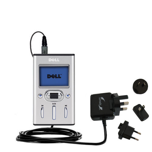 International Wall Charger compatible with the Dell Pocket DJ 15GB