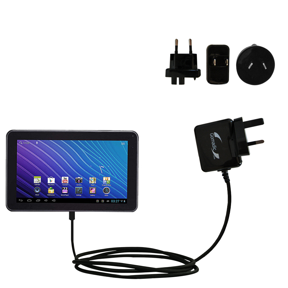 International Wall Charger compatible with the Double Power DOPO GS-918 9 inch tablet