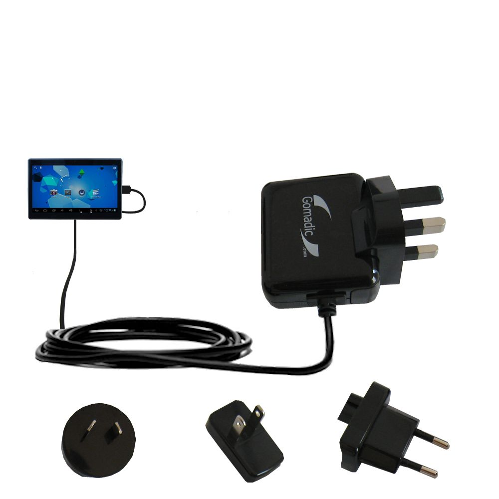 International Wall Charger compatible with the Double Power DOPO Tablet TD-1010