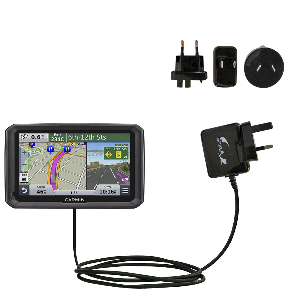 International Wall Charger compatible with the Garmin dezl 570 LMT