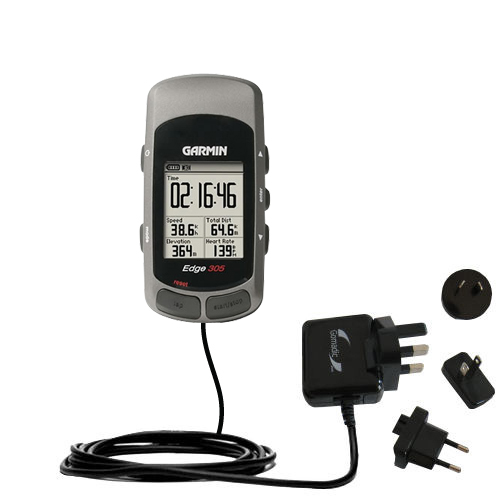 International Wall Charger compatible with the Garmin Edge 205