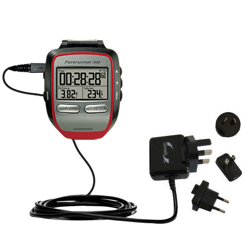 International Wall Charger compatible with the Garmin Forerunner 305