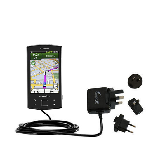 International Wall Charger compatible with the Garmin Garminfone