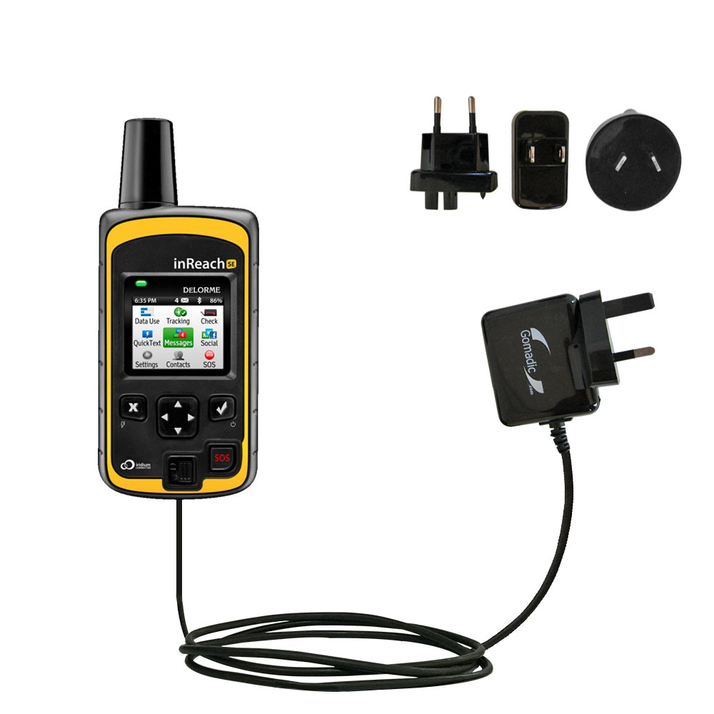 International Wall Charger compatible with the Garmin inReach Explorer+