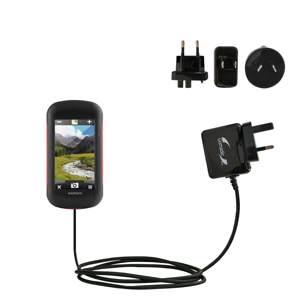 International Wall Charger compatible with the Garmin Montana 680 / 680t