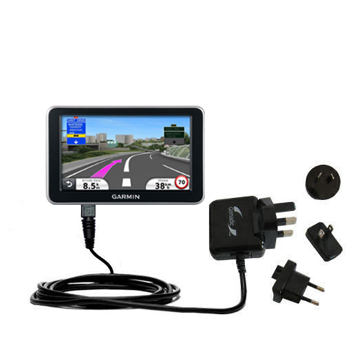 International Wall Charger compatible with the Garmin Nuvi 2340 2350 2360 2360LMT 2370 2370LT