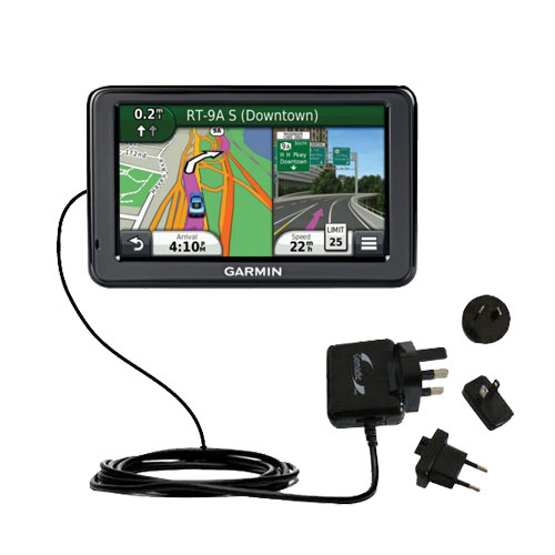 International Wall Charger compatible with the Garmin Nuvi 2455 2475LT 2495LMT 2455LMT