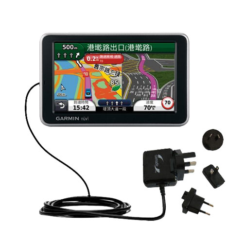 International Wall Charger compatible with the Garmin Nuvi 2555 2595 LMT