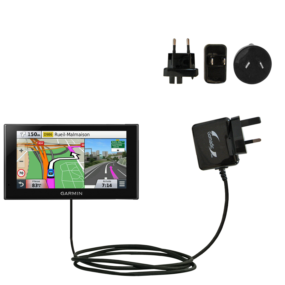 International Wall Charger compatible with the Garmin nuvi 2669 / 2689 LMT