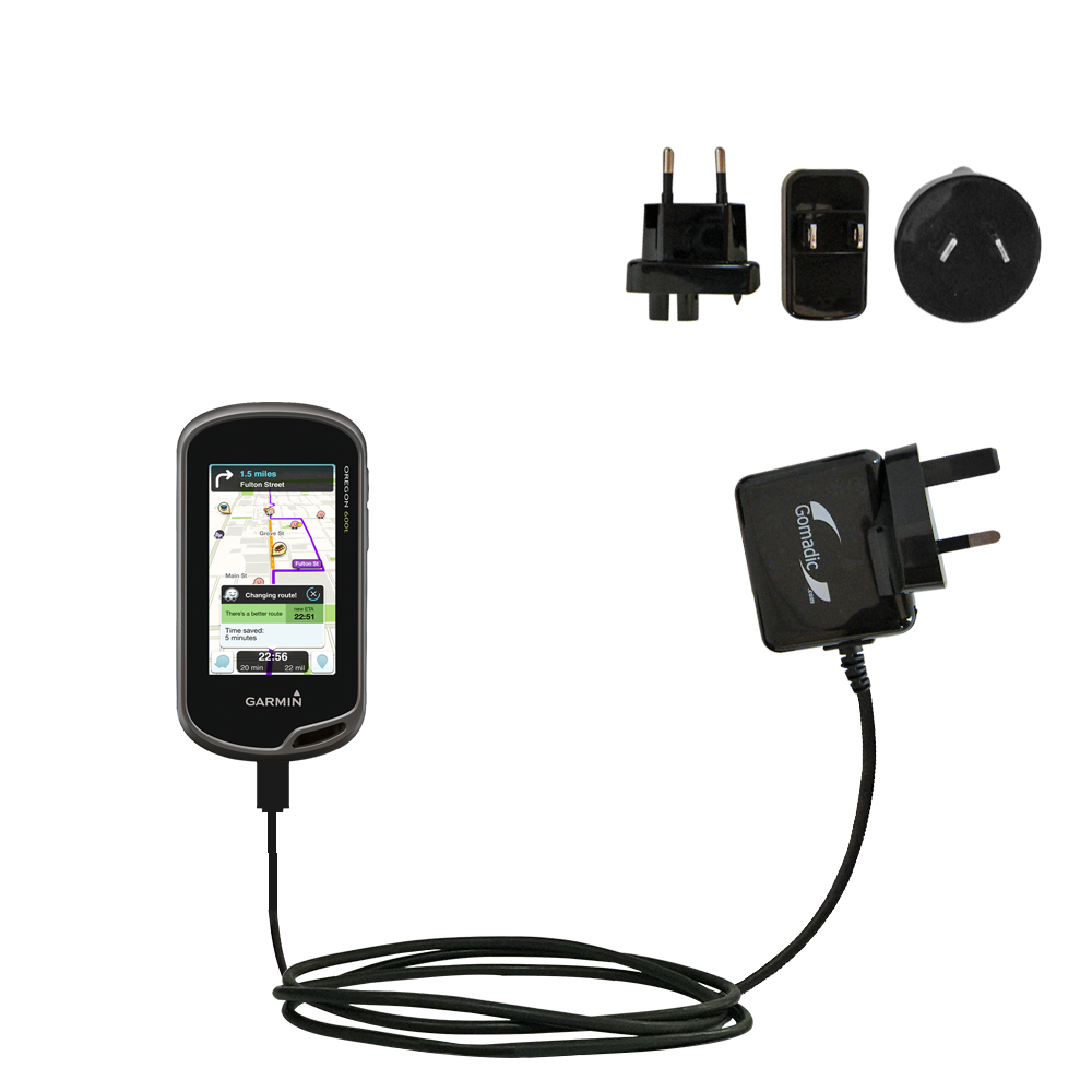 International Wall Charger compatible with the Garmin Oregon 600 / 650 / 650t