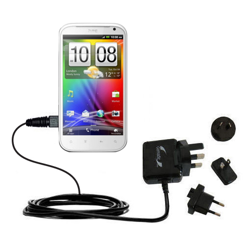 International Wall Charger compatible with the HTC Bliss